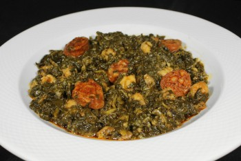 SPINACH WITH CHICKPEAS AND...